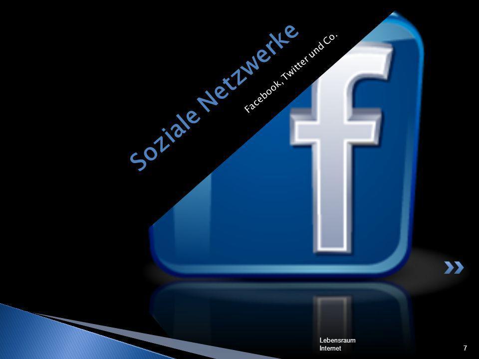 Soziale Netzwerke Facebook, Twitter und Co. Lebensraum Internet