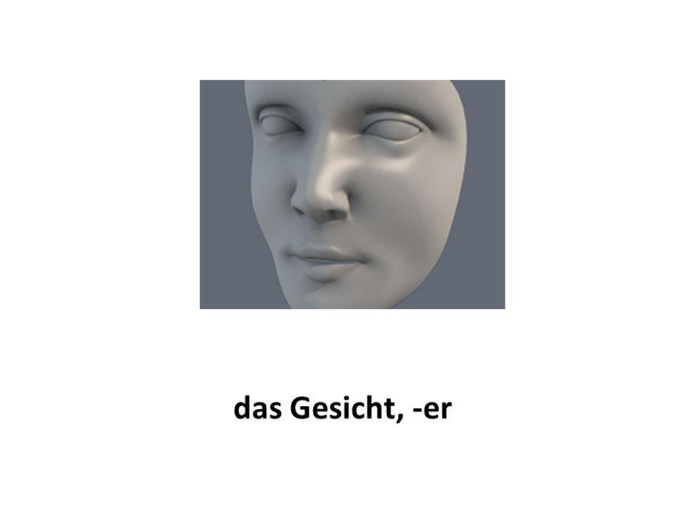 das Gesicht, -er