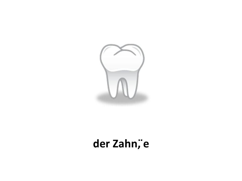 der Zahn, ̈e