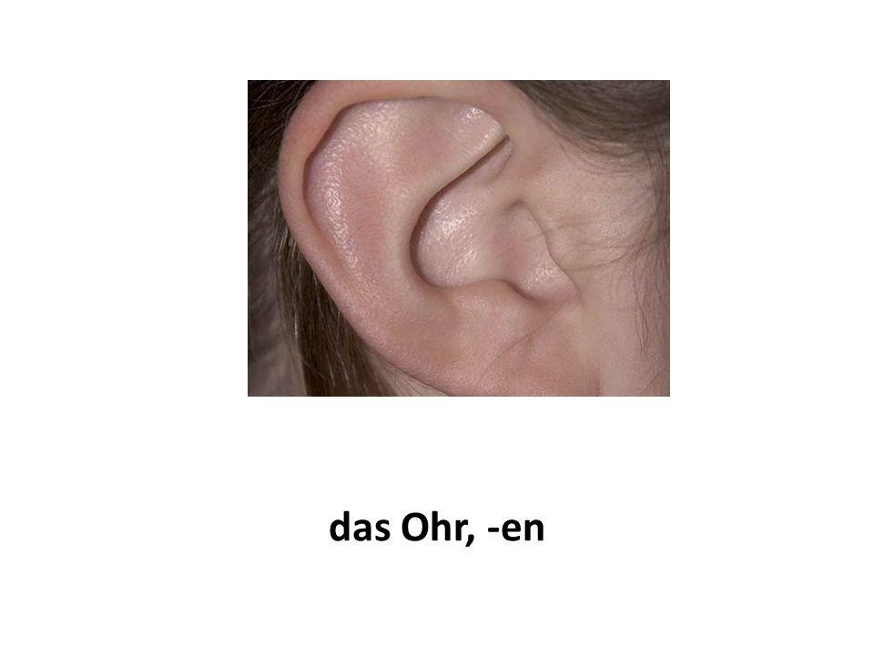 das Ohr, -en