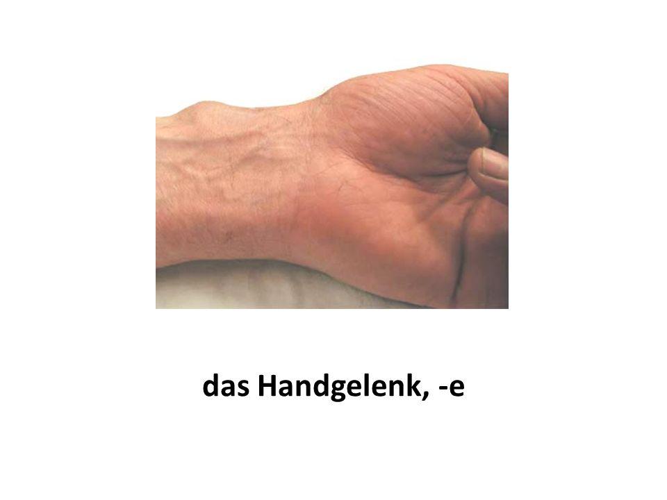 das Handgelenk, -e