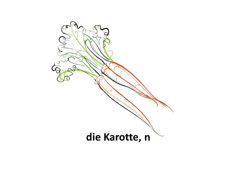 die Karotte, n
