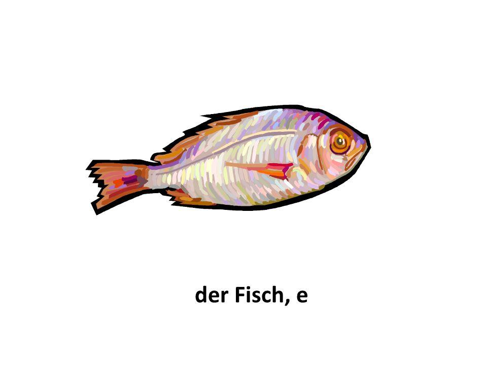 der Fisch, e