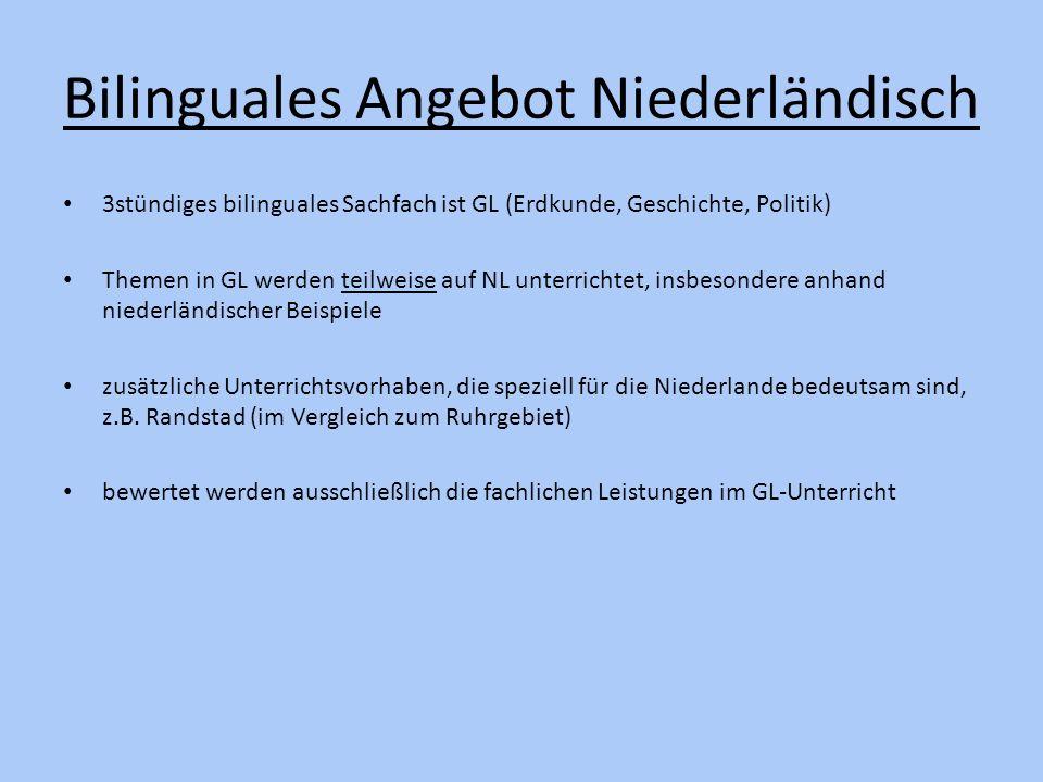 Bilinguales Angebot Niederländisch