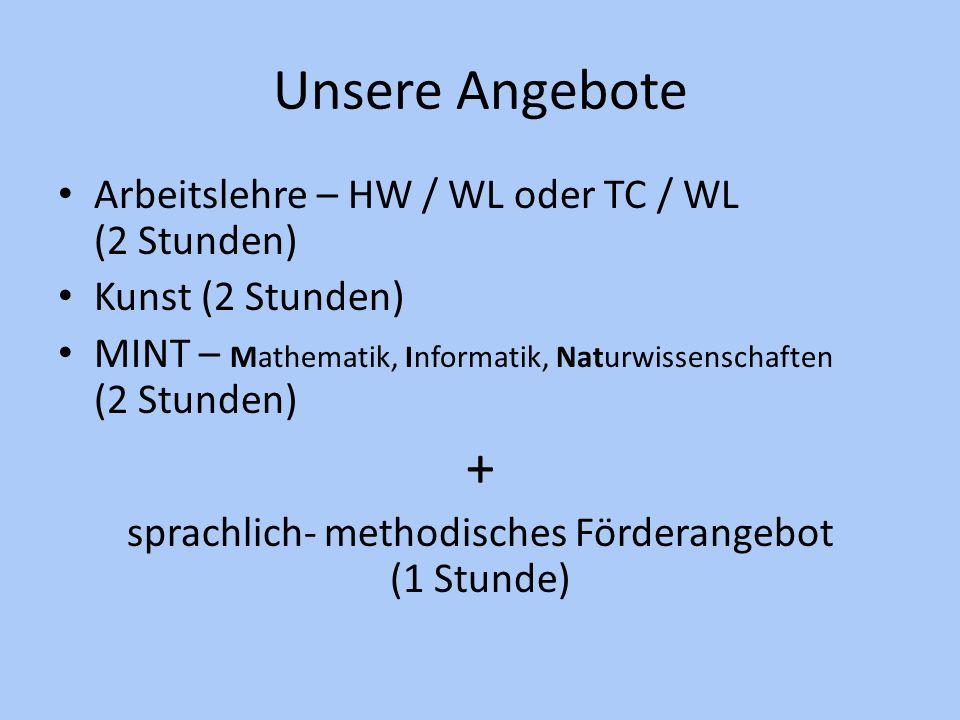 sprachlich- methodisches Förderangebot (1 Stunde)