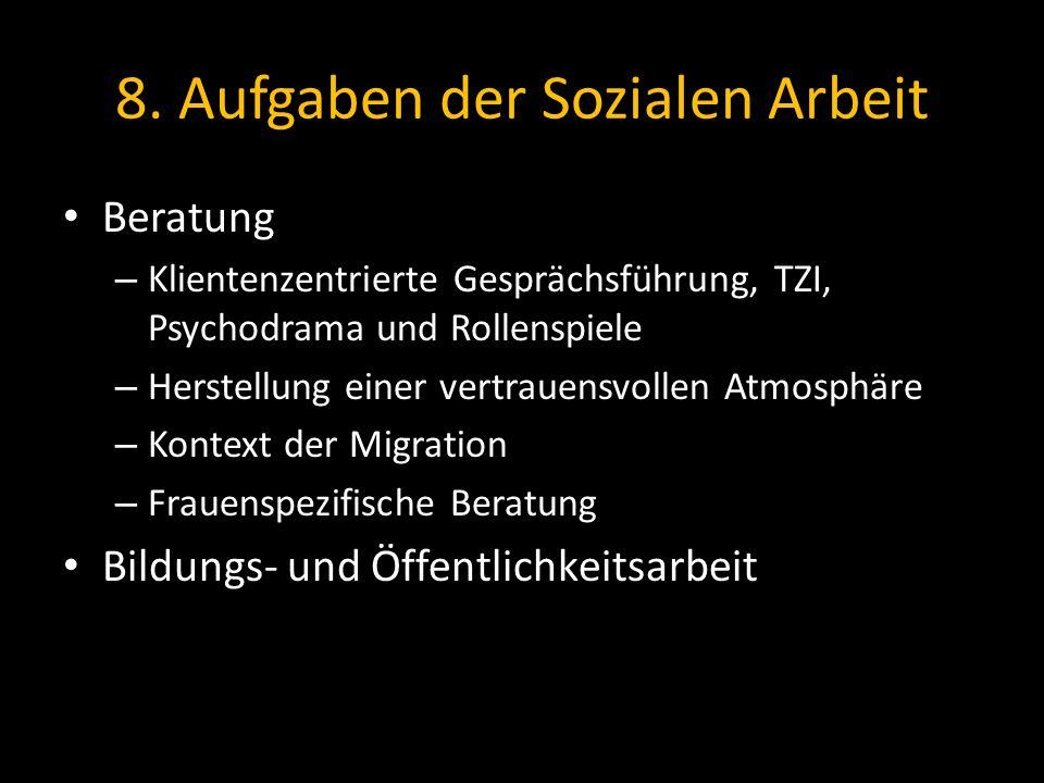8. Aufgaben der Sozialen Arbeit