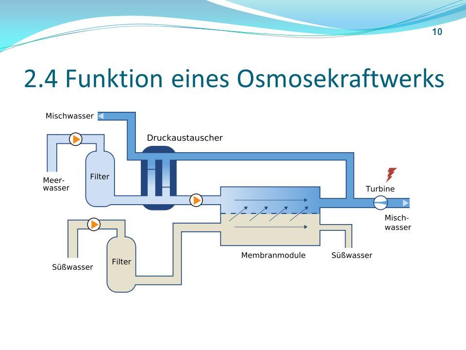2.4 Funktion eines Osmosekraftwerks