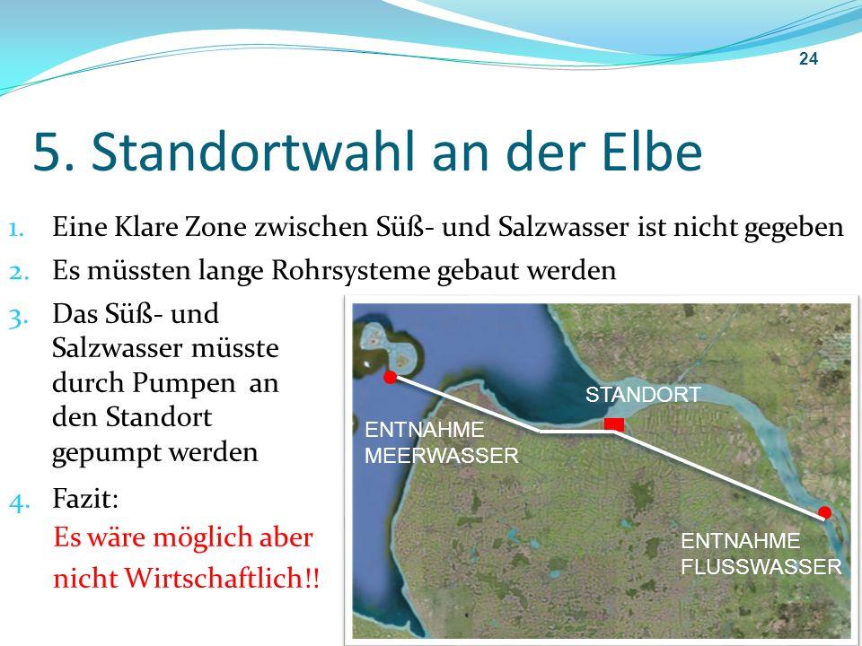 5. Standortwahl an der Elbe