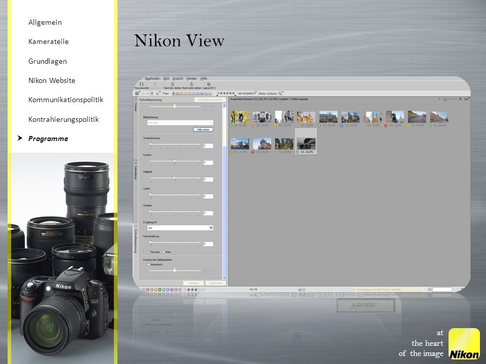 Nikon View at the heart of the image Allgemein Kamerateile Grundlagen