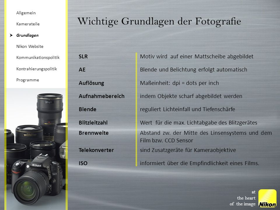 Wichtige Grundlagen der Fotografie
