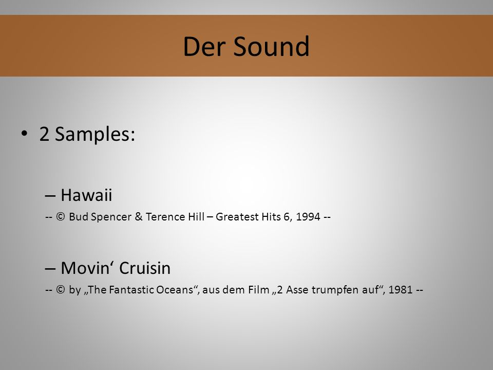 Der Sound 2 Samples: Hawaii Movin' Cruisin