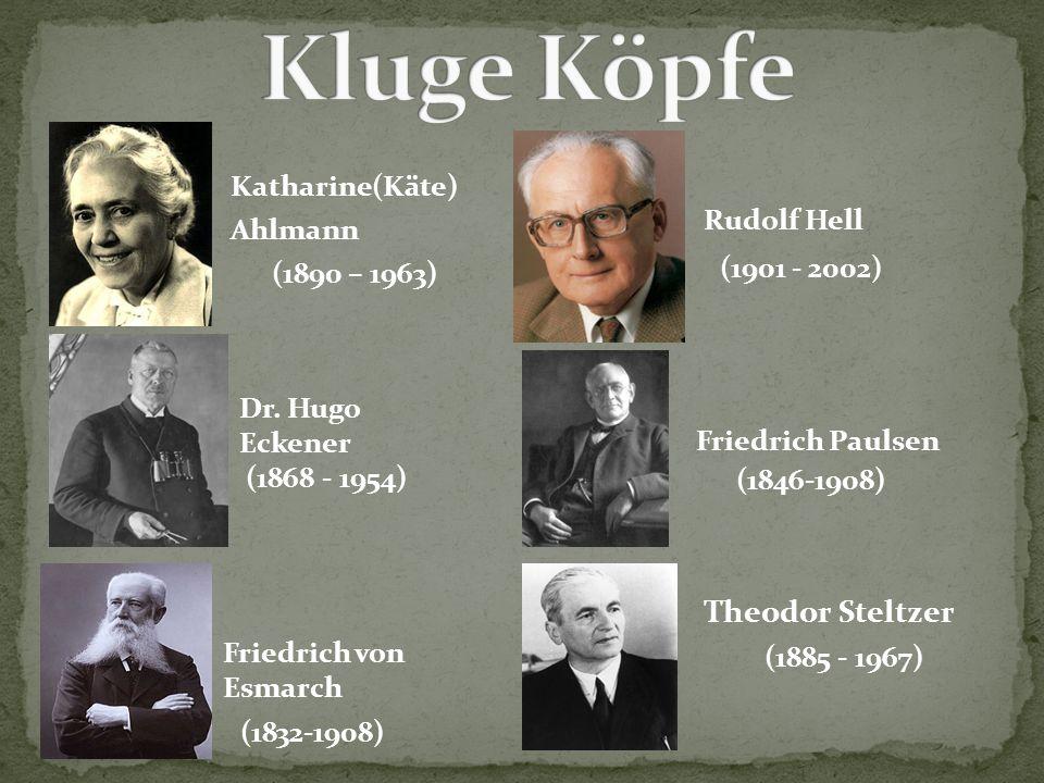 Kluge Köpfe Theodor Steltzer Katharine(Käte) Ahlmann (1890 – 1963)