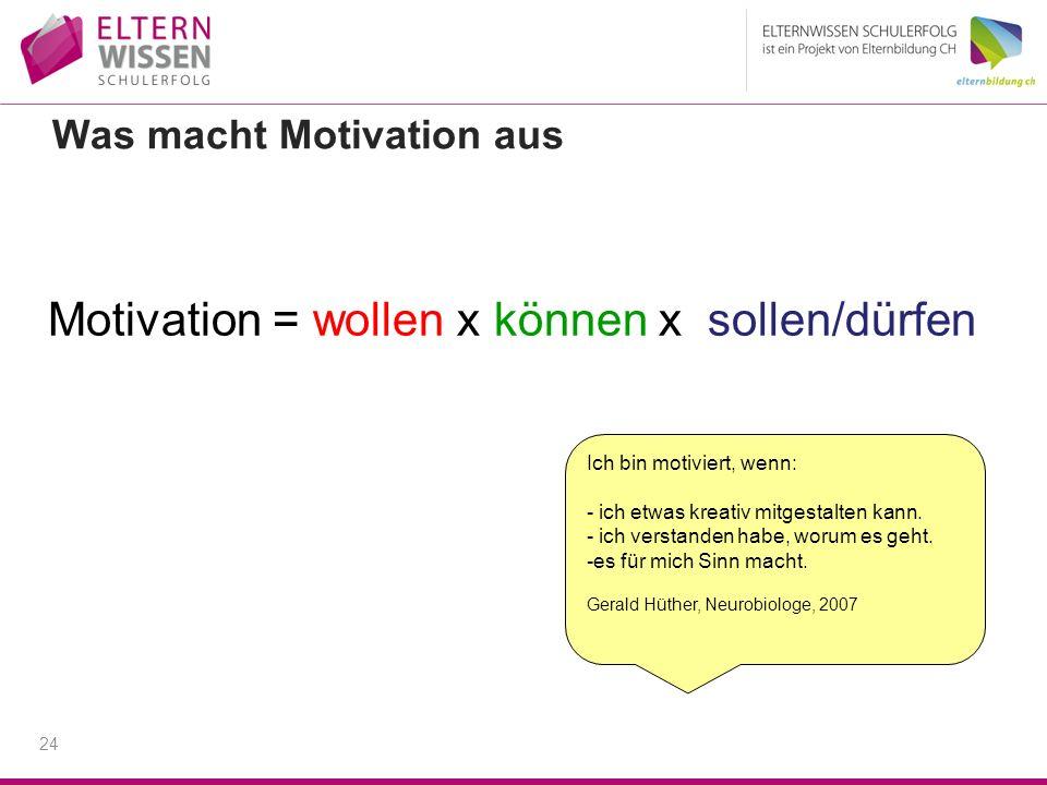 Was macht Motivation aus