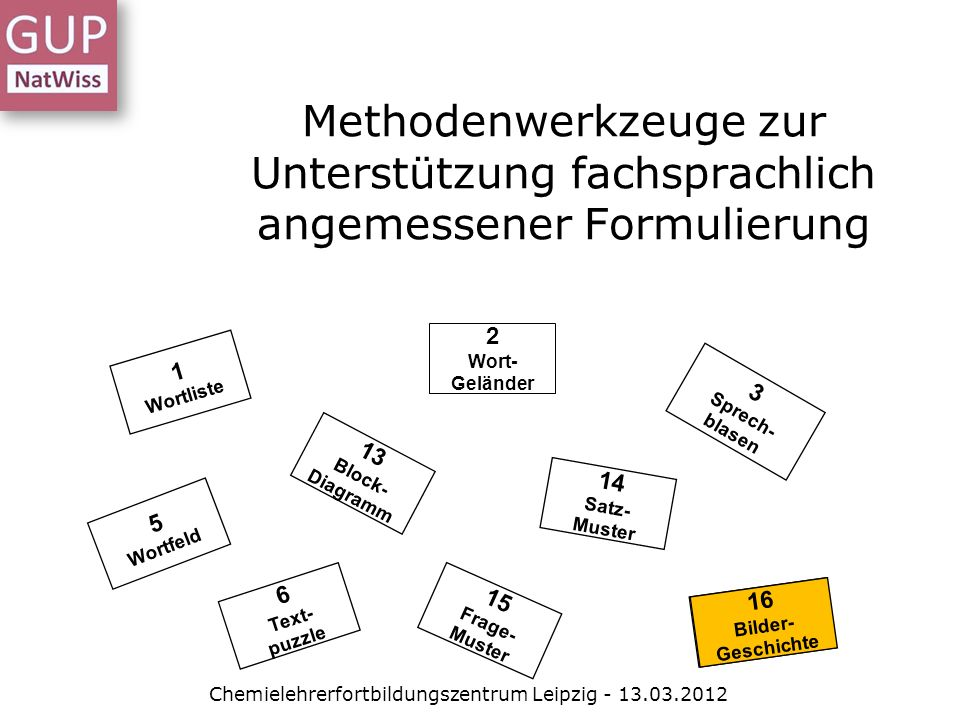 Chemielehrerfortbildungszentrum Leipzig - 13.03.2012