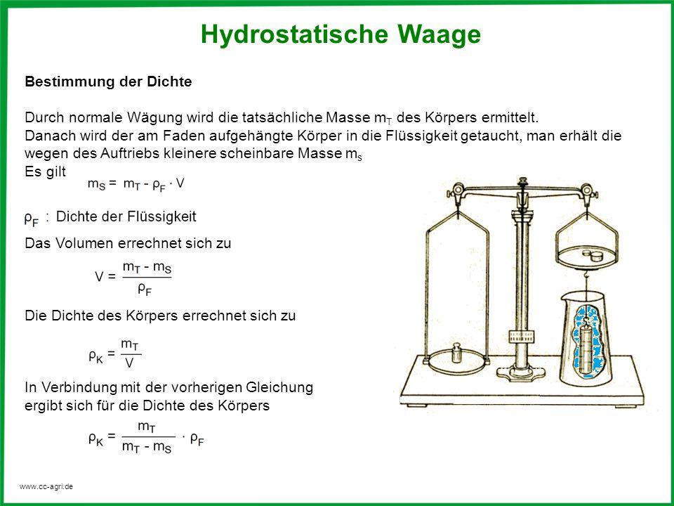 Hydrostatische Waage Bestimmung der Dichte