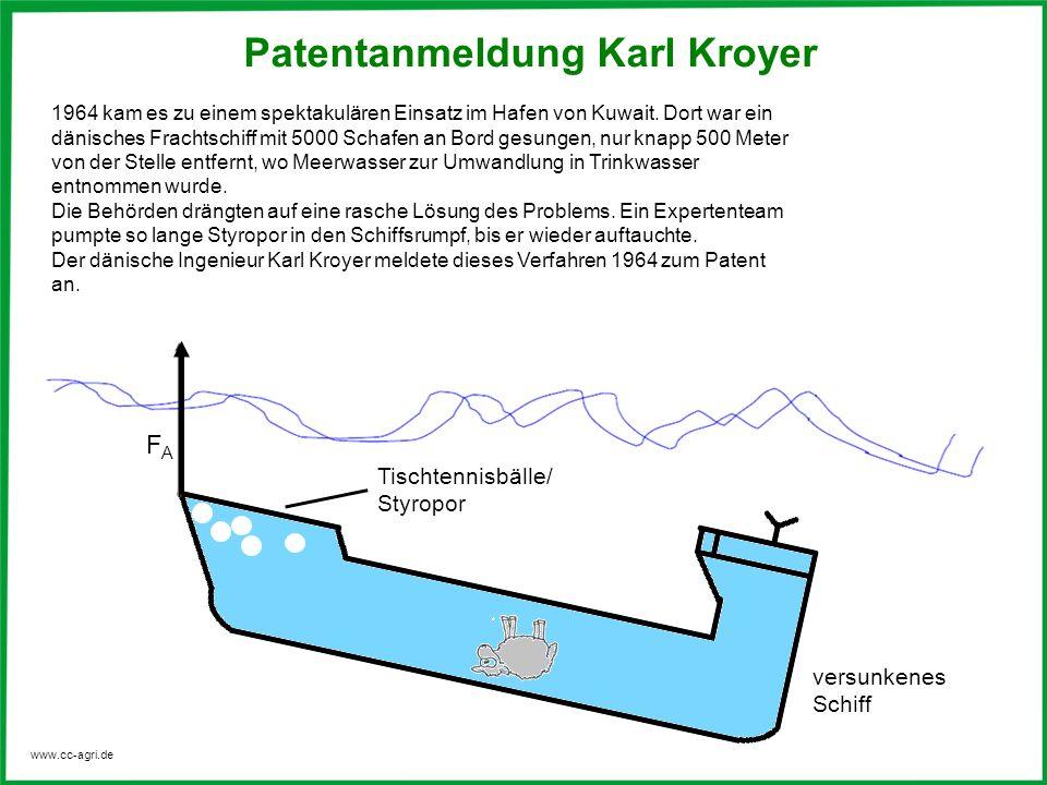 Patentanmeldung Karl Kroyer