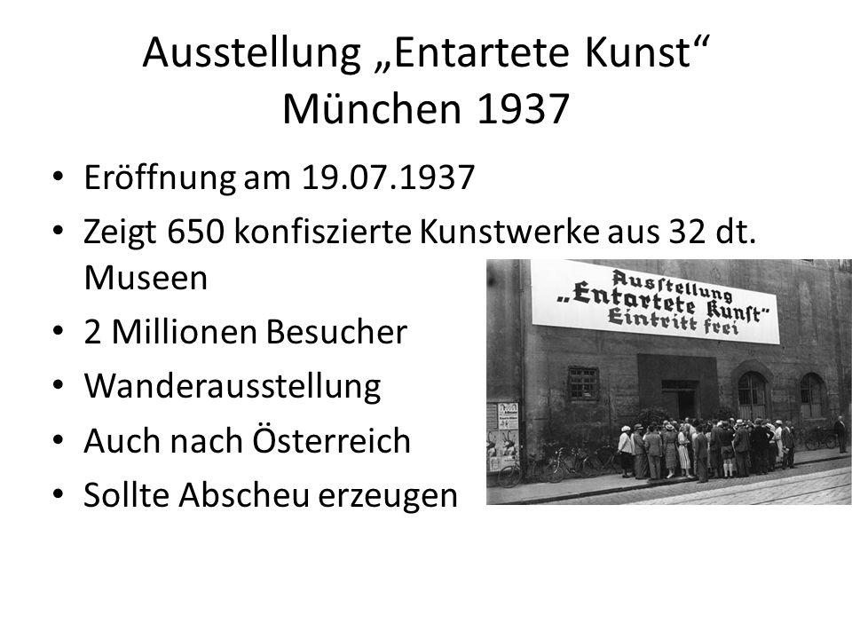 """Ausstellung """"Entartete Kunst München 1937"""