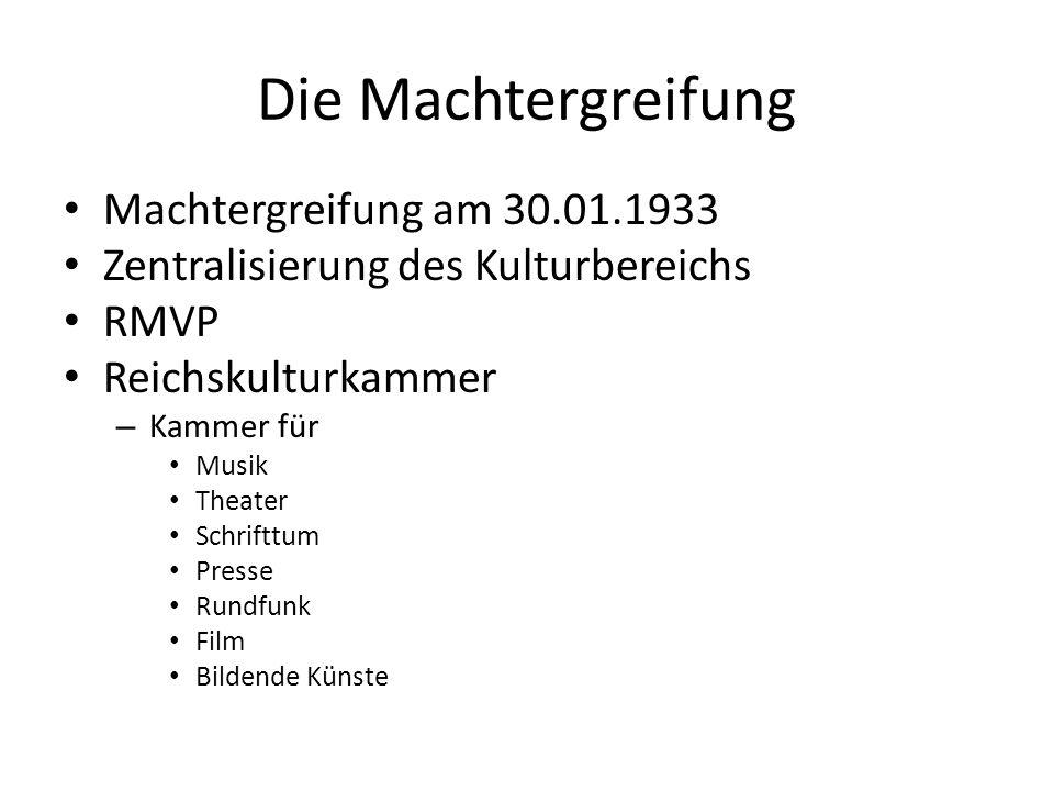 Die Machtergreifung Machtergreifung am 30.01.1933