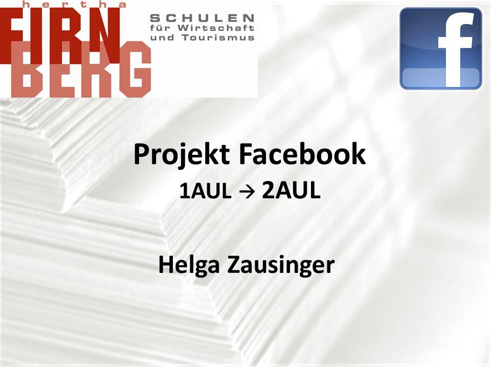 Projekt Facebook 1AUL  2AUL