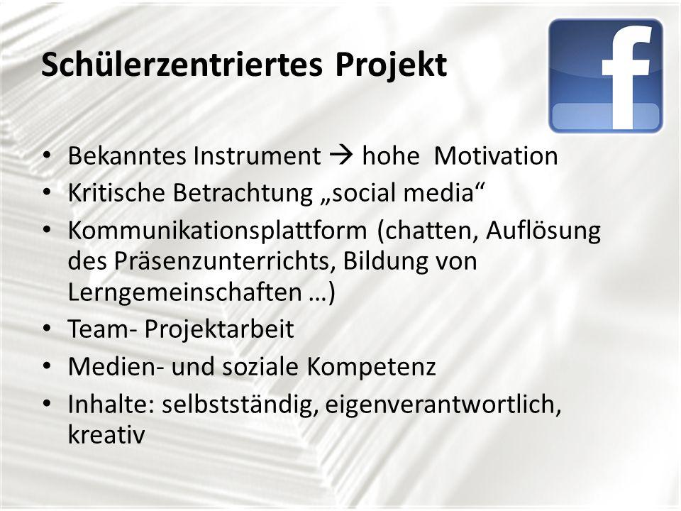 Schülerzentriertes Projekt