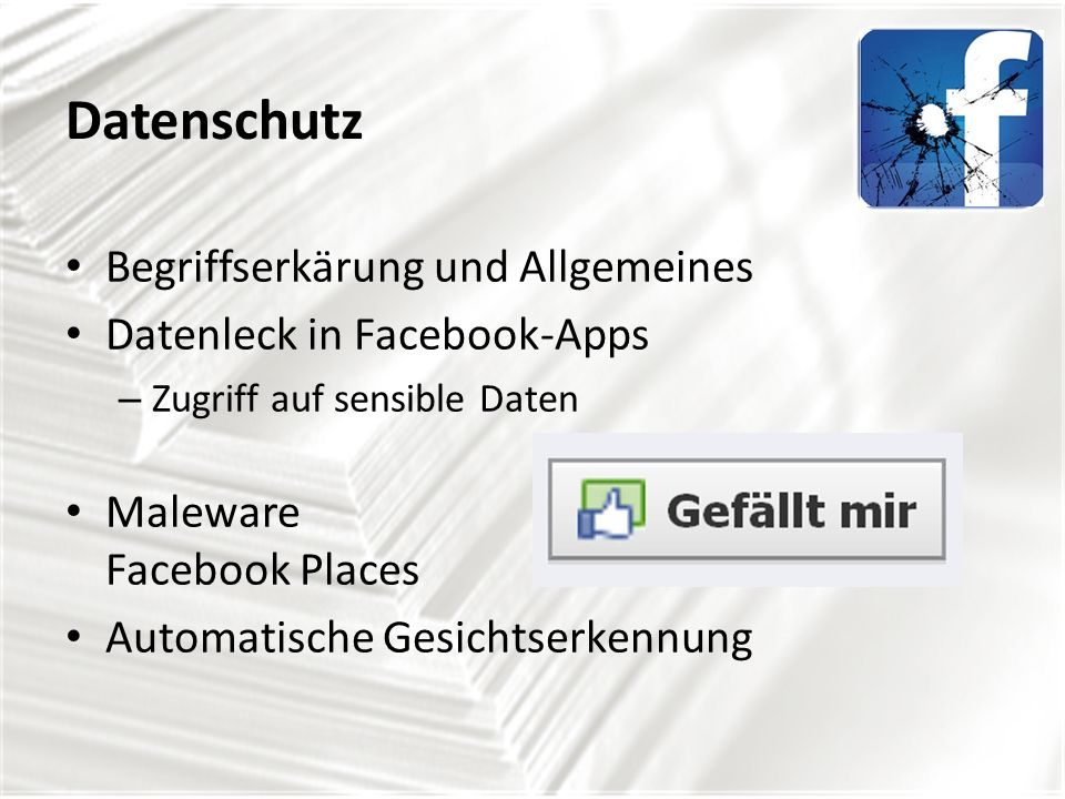 Datenschutz Begriffserkärung und Allgemeines