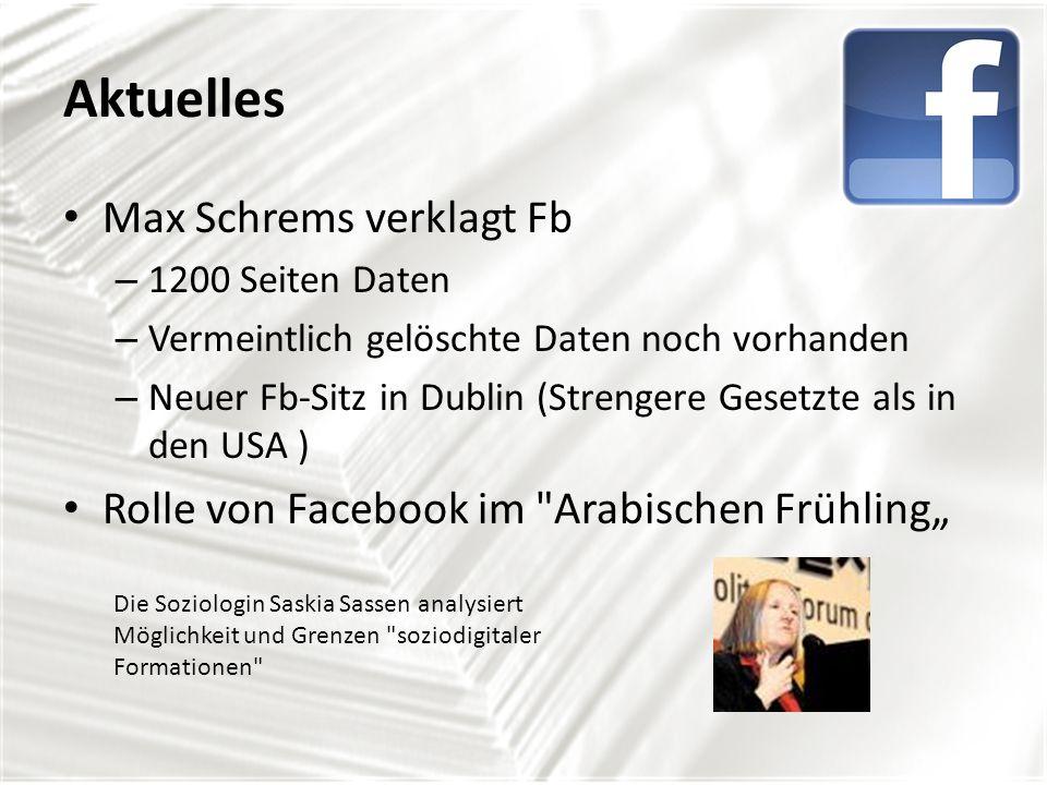 Aktuelles Max Schrems verklagt Fb