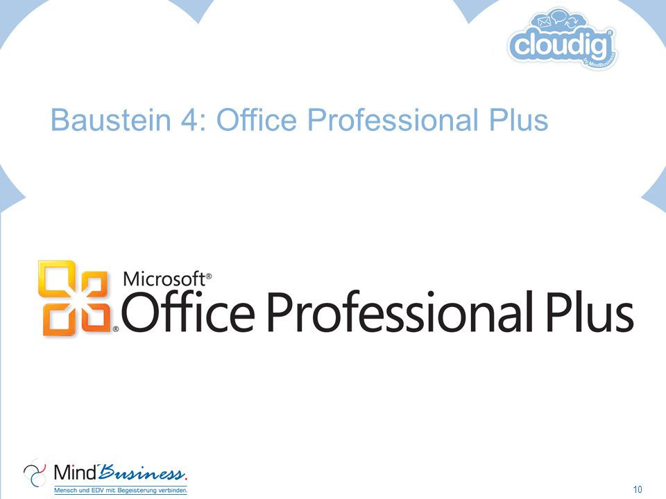 Baustein 4: Office Professional Plus