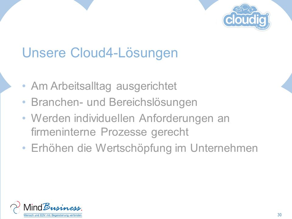 Unsere Cloud4-Lösungen