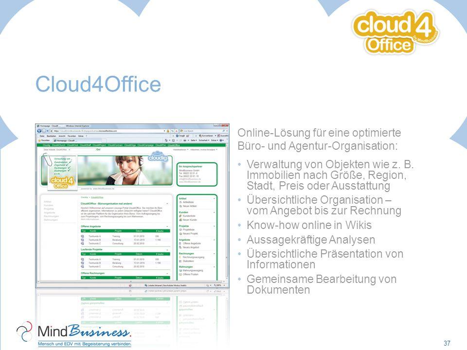 Cloud4Office Online-Lösung für eine optimierte Büro- und Agentur-Organisation: