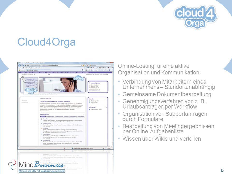 Cloud4Orga Online-Lösung für eine aktive Organisation und Kommunikation: Verbindung von Mitarbeitern eines Unternehmens – Standortunabhängig.