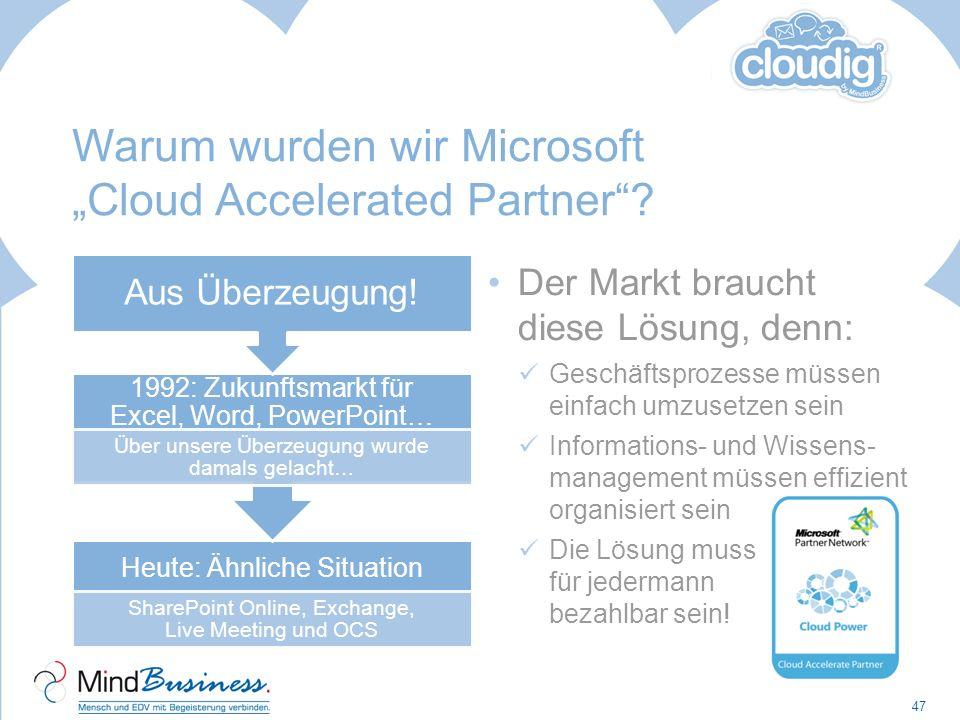 """Warum wurden wir Microsoft """"Cloud Accelerated Partner"""