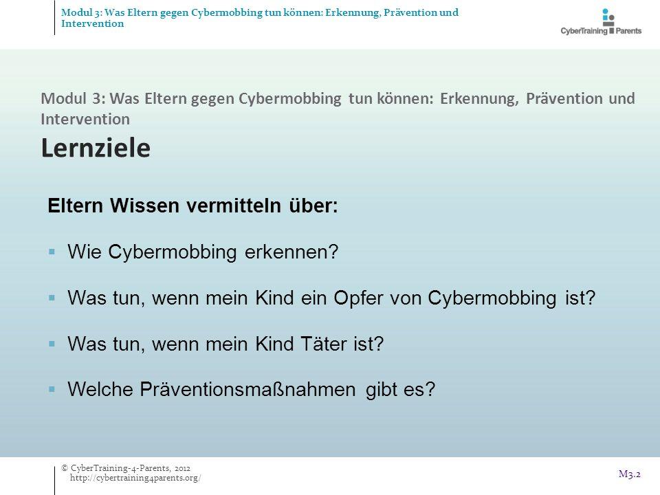 Eltern Wissen vermitteln über: Wie Cybermobbing erkennen