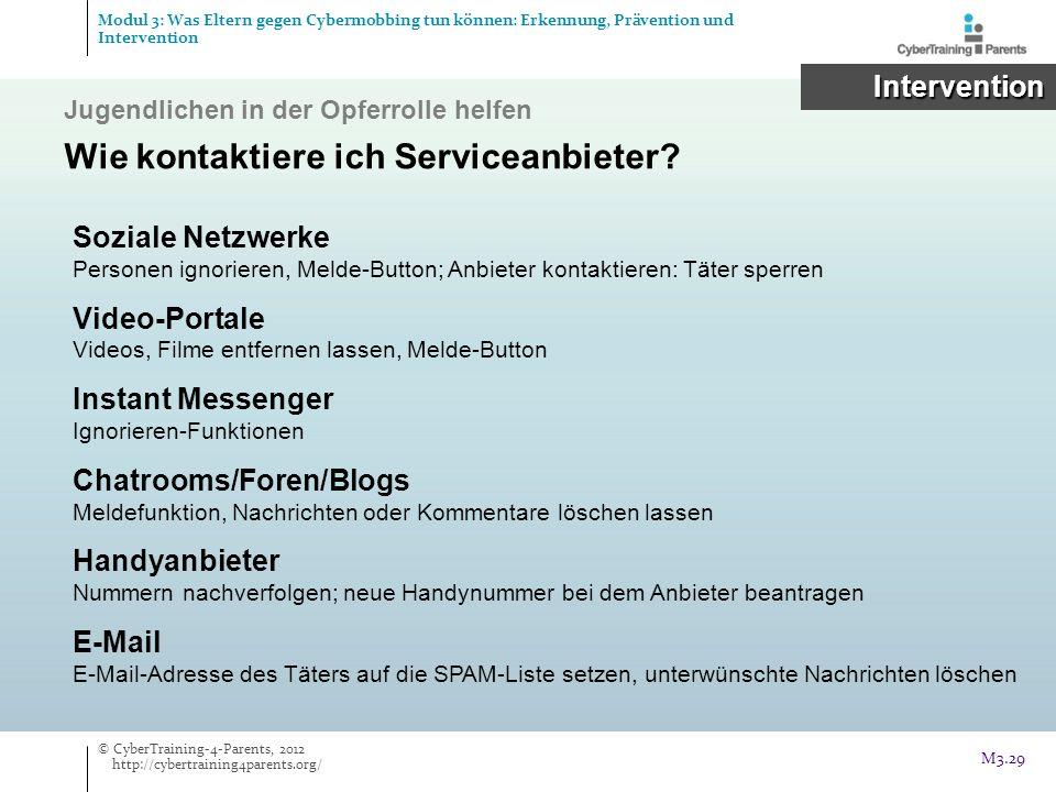 Wie kontaktiere ich Serviceanbieter