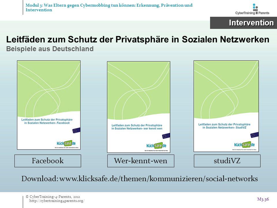 Leitfäden zum Schutz der Privatsphäre in Sozialen Netzwerken