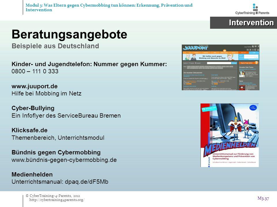 Beratungsangebote Intervention Beispiele aus Deutschland