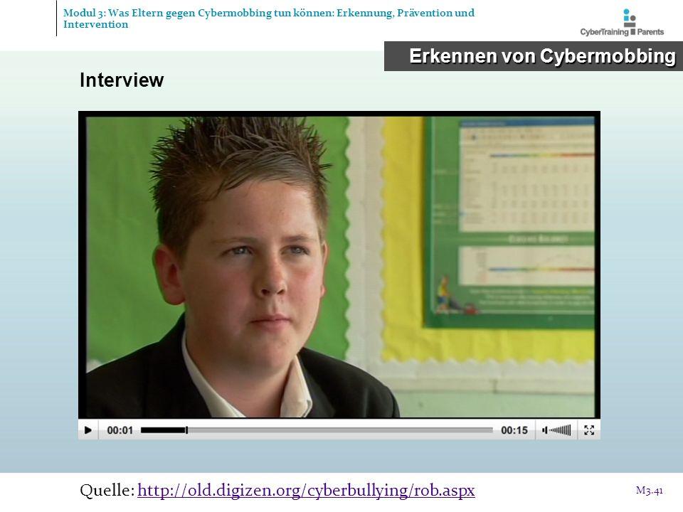 Erkennen von Cybermobbing Interview