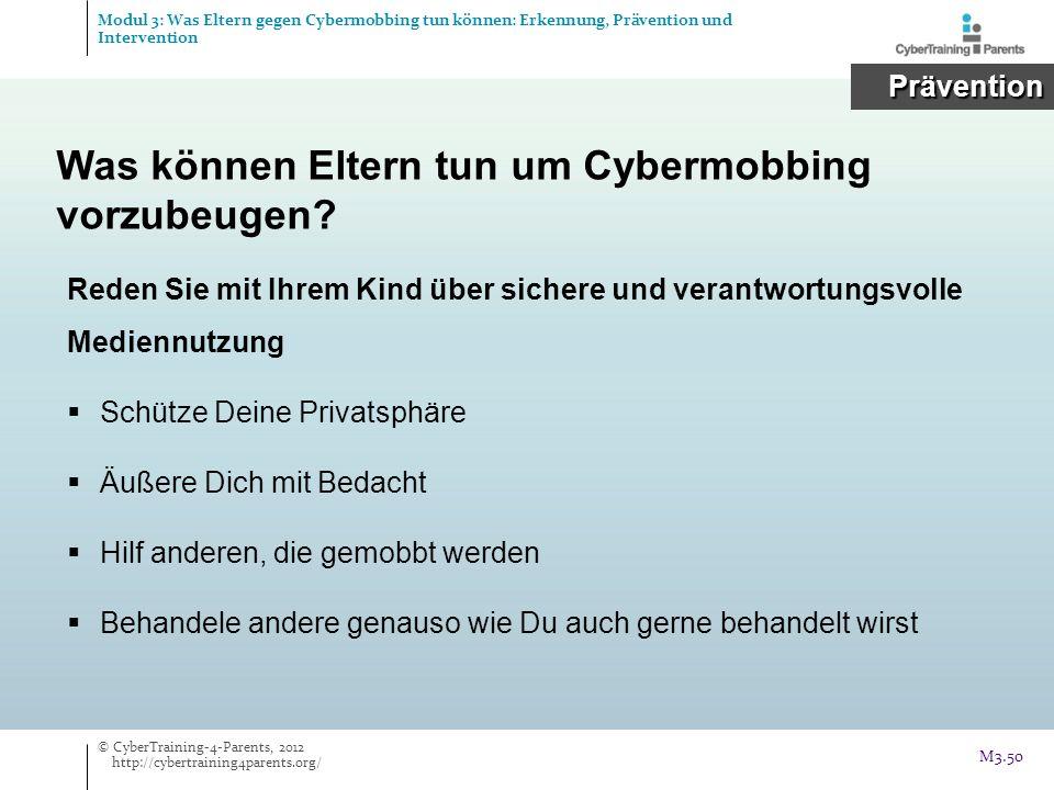 Was können Eltern tun um Cybermobbing vorzubeugen
