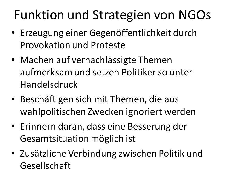 Funktion und Strategien von NGOs