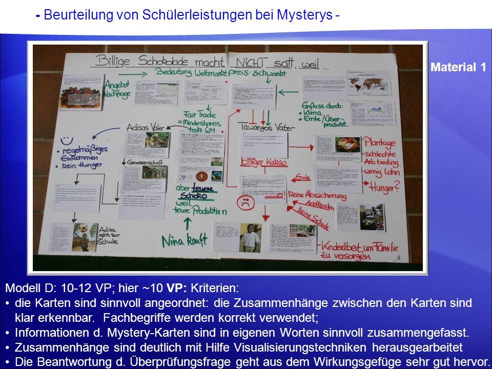 - Beurteilung von Schülerleistungen bei Mysterys -