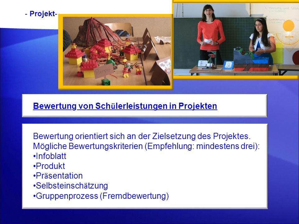 Bewertung von Schülerleistungen in Projekten