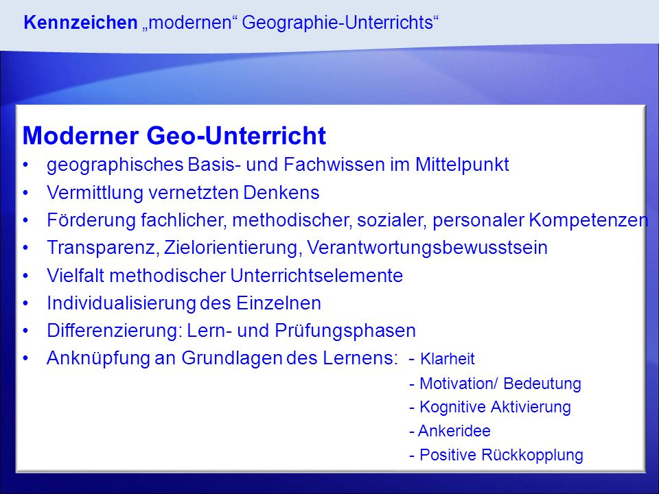 Moderner Geo-Unterricht