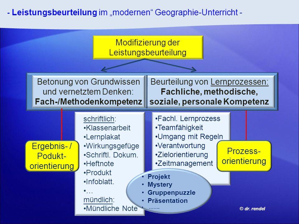 Beurteilung von Lernprozessen: