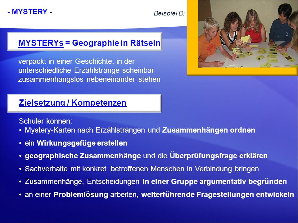 MYSTERYs = Geographie in Rätseln
