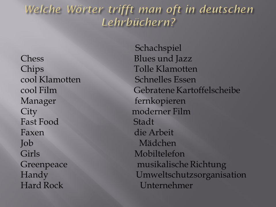 Welche Wörter trifft man oft in deutschen Lehrbüchern