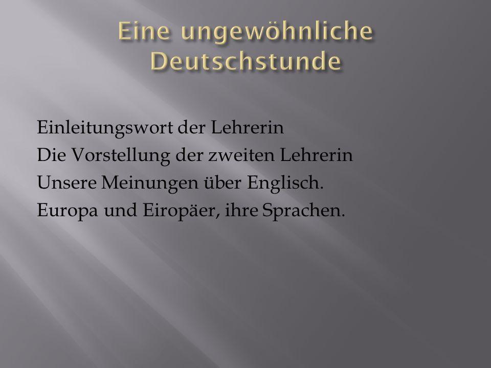 Eine ungewöhnliche Deutschstunde