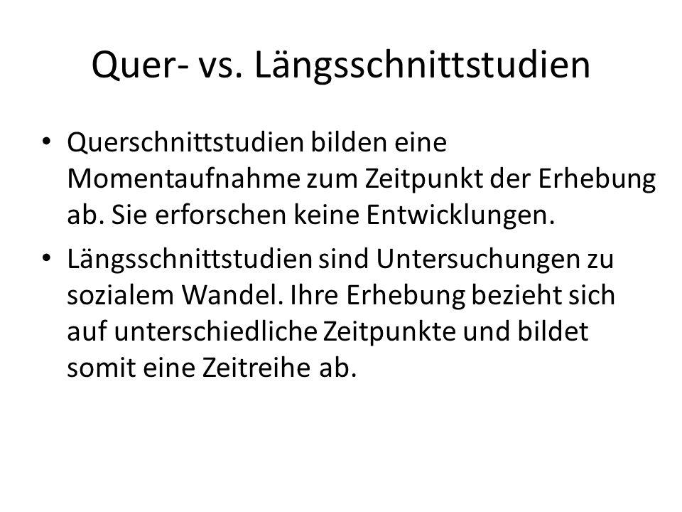 Quer- vs. Längsschnittstudien