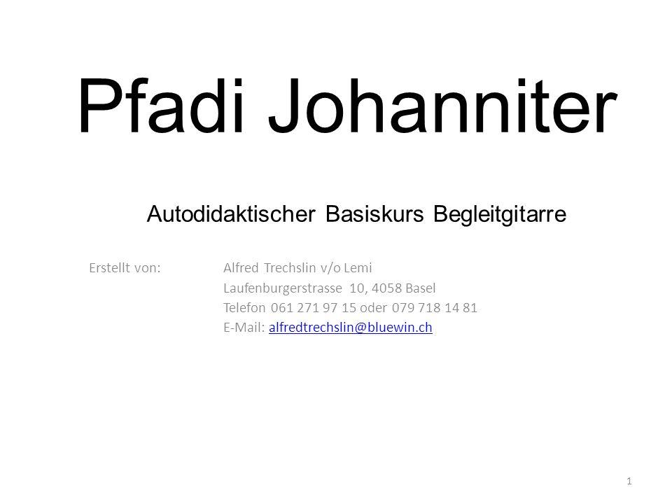 Pfadi Johanniter Autodidaktischer Basiskurs Begleitgitarre