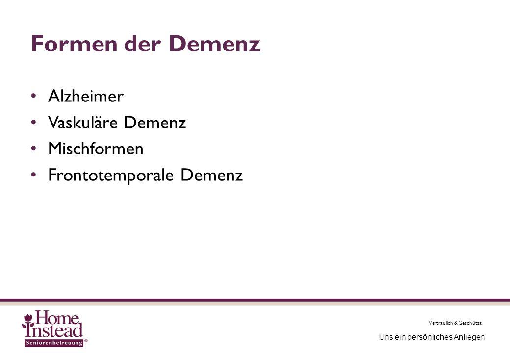 Formen der Demenz Alzheimer Vaskuläre Demenz Mischformen