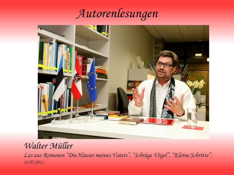 Autorenlesungen Walter Müller