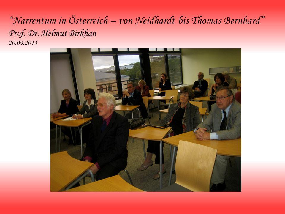 Narrentum in Österreich – von Neidhardt bis Thomas Bernhard Prof. Dr